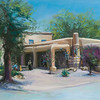 On The Plaza - Santa Fe, 12x18, Pastel