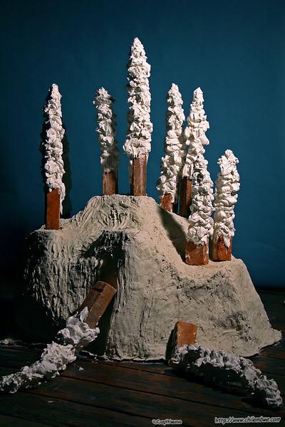 Exhibit by Ianna Nova Frisby, brick house gallery.