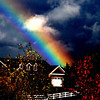 Rainbow house<br /> The sun came out during the storm and ready illuminated the sky!