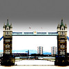 Tower Bridge in London looking north with a bit of effect for fun