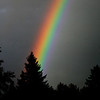 I must have seen at least 6 different rainbows today...<br /> Highlighting their color provides a dramatic picture