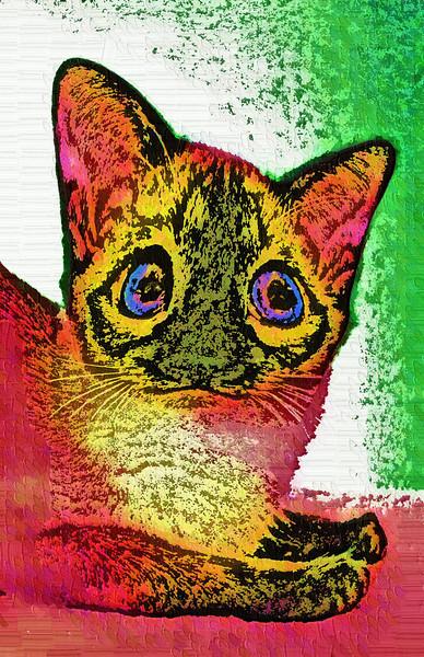 Fun Funky  Cat Art to make you smile :)