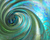 Aqua Swirl ~ One of the glass paperweight series.