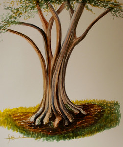 """Olive Tree"" 18""x 24"" Felt Pen on110lb  Bee Drawing Paper"