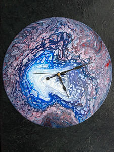 NFS. Acrylic pour on old  LP record.