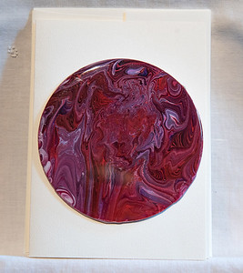$12. Unique blank card with acrylic pour CD mounted.
