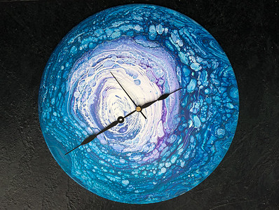 SOLD.  Acrylic cloud pour clock.