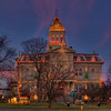 Newark, Ohio Courthouse at Christmas time