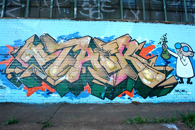 Aerosol art on the 5pointz wall.