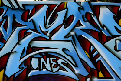 Meres artwork, at the Astoria Music & Art Festival 2010 in Astoria Park.