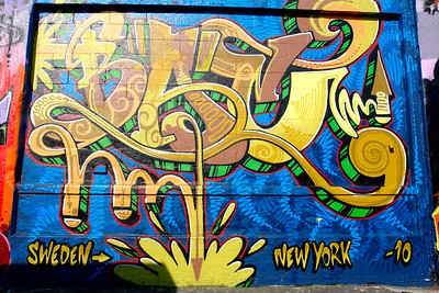 Aerosol art on the 5pointz wall.