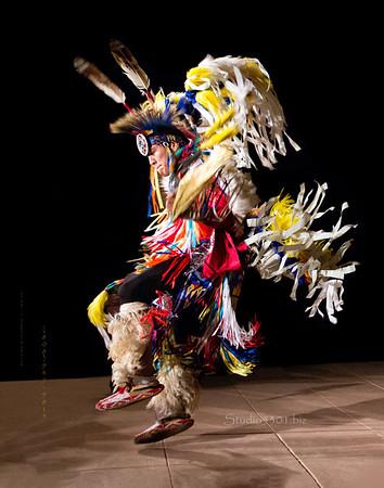 Ken 3 11x14 Native dancer Kenneth in air levitate 1991cf ton