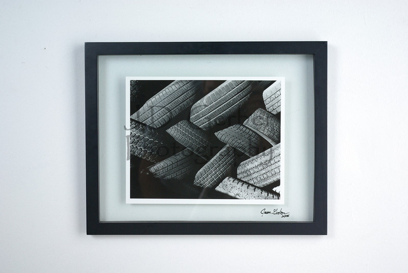 """Tire Braid""<br /> <br /> 8"" X 10"" Hand Printed Black & White Film Photograph.<br /> 11"" X 14"" Glass Trap Frame<br /> <br /> ""This print has so much texture, you can almost taste it!""- JDG"