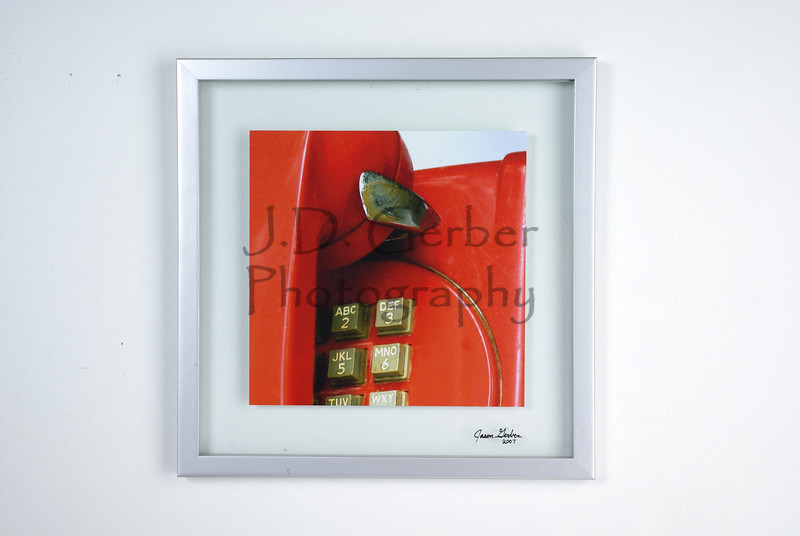 """Hot Line""<br /> <br /> 10"" X 10"" Color Photograph<br /> 14"" X 14"" Glass Trap Frame"