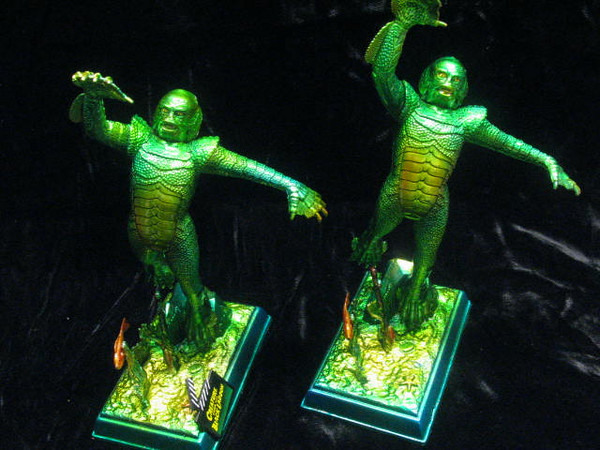 A matching pair of Moebius Creature from the Black Lagoon.  I currently have one in stock for sale at $65.00.  Lot's of great color on these, beautiful in the sunlight!
