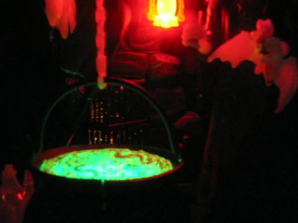 Creepy glowing glop in the kettle!