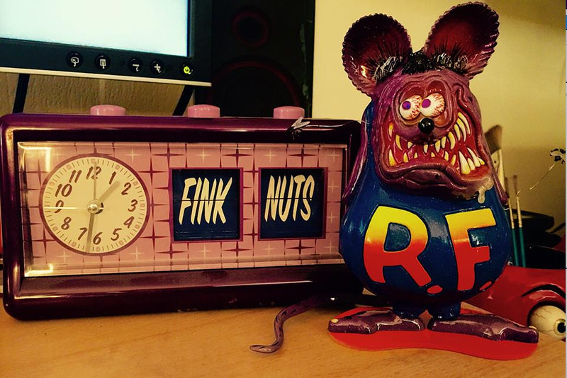 Sittin' on Von Franco's desk........