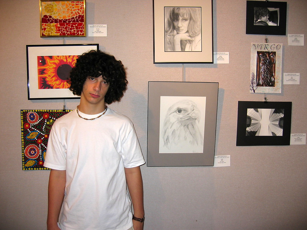 Garden Pier Art Show (June 2005) Atlantic City NJ<br /> Juried Art Show: Patricks work was chosen at the Stockton Teen Arts Festival to go on to be displayed at the county level.(Eagle Pic)