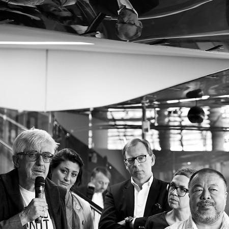 Pakesch, Kaup-Hasler, Buchmann, Steiner, Ai Weiwei