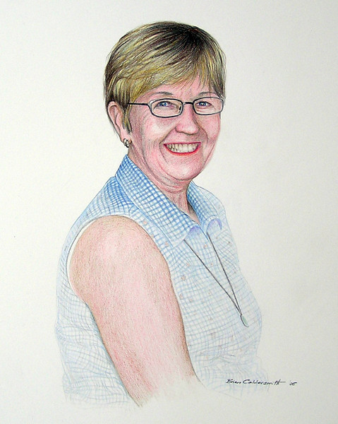 Kay<br /> Coloured pencil