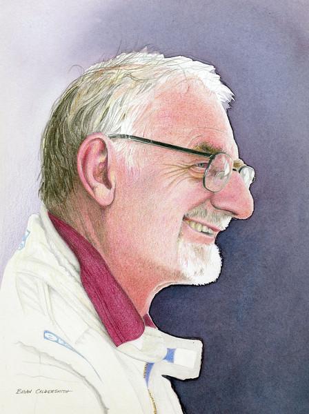 Coloured pencil study of Sir John Whitmore