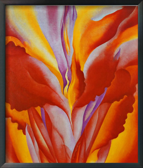 Red Canna (another scan). Probably my third favorite O'Keefe image.