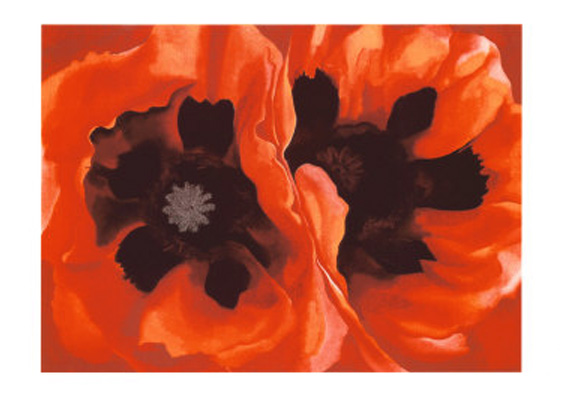 Oriental Poppies<br /> (This is one of mmy two favorite O'Keeffe so I made several versions of it)