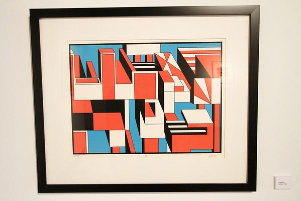 "Geoscape - Kelly McGreehan; ""Layered"" - Printmaking Thesis Exhibit; Ohio University, March 2012"
