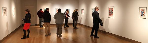 Opening Night Reception; BFA Printmaking Thesis Exhibit; Ohio University, March 2012