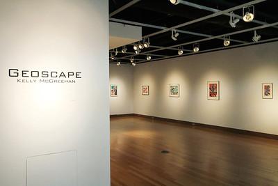 Geoscape - Kelly McGreehan; Printmaking Thesis Exhibit; Ohio University, March 2012