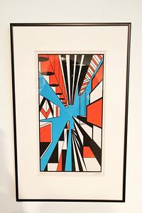 "Geoscape - Kelly McGreehan;""Upward"" - Printmaking Thesis Exhibit; Ohio University, March 2012"