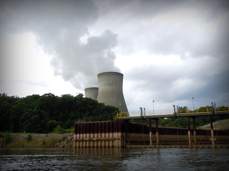 Plant Vogtle viewed from the Savannah River