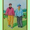 Bob Hope & Bing Crosby, Berkshire Golf Club, GB, 1952, 11x15, watercolor, feb 9, 2017.
