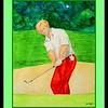 Jack Nicklaus, 1970 US Open, 11.75x14.5, watercolor, jan 29, 2016