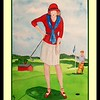 She Made a Birdie! Westchester CC, 1921. 10x14, watercolor, jan 20, 2016.