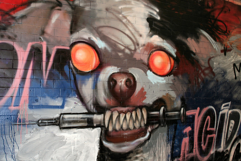 Graffiti art, London