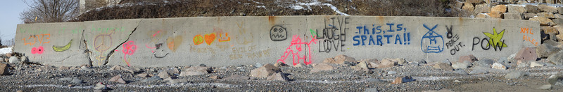 Seawall graffiti