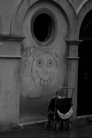 Italy, Venice, Smiley Face Graffiti SNM