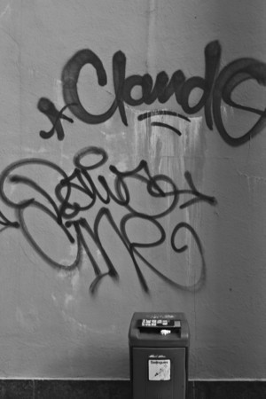 Switzerland, Lausanne, Graffiti SNM