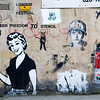 BANSKY GRAFFITI ARTIST STENCIL STREET ART LONDON ENGLAND UK
