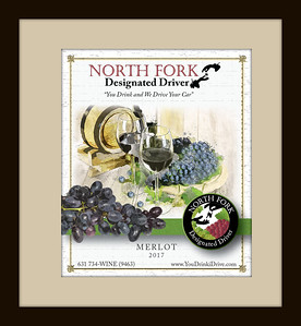 Custom wine label for North Fork Designated Driver