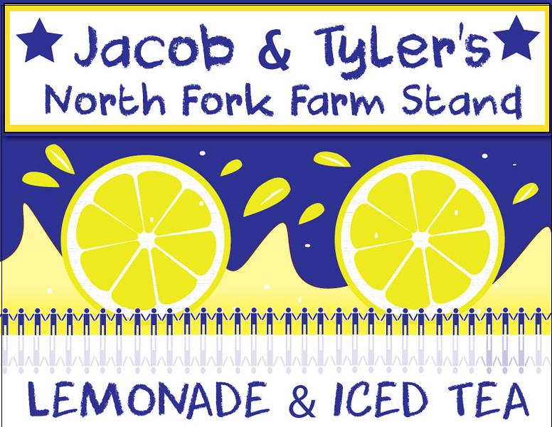 Lemonade stand sign/client