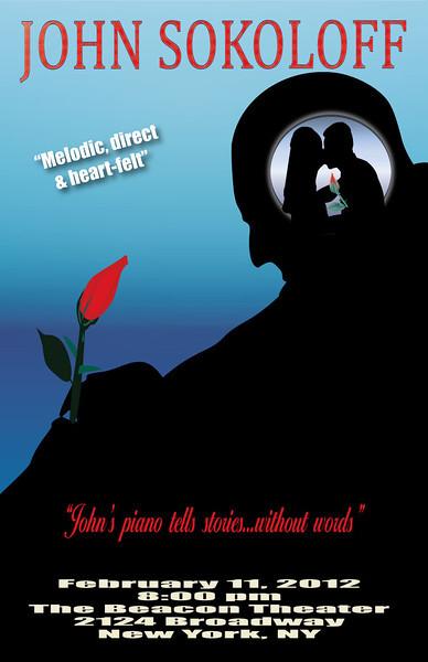 "Adobe Illustrator poster art of favorite music artist John Sokoloff for class assignment. Check out his website at <a href=""http://johnsokoloff.net/"">http://johnsokoloff.net/</a>"