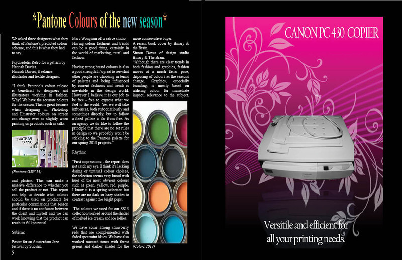 Magazine Design assignment using Adobe InDesign