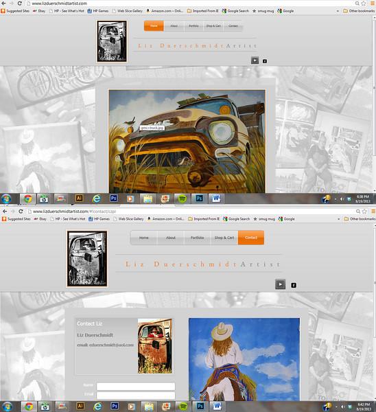 Web design for Liz Duerschmidt Artist