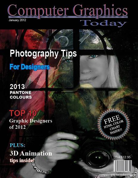 Magazine cover design, Adobe InDesign