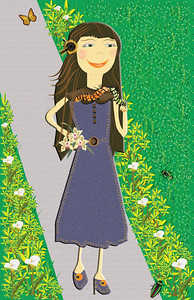 Miss Caitlyn Caterpillar..... friend of Miss Leyna Lily....on her way to lunch at Miss Lenya's house. Illustrations by Nancy Ann.