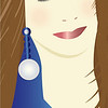 Brown hair blue eyes/Glamour Girls collection by Nancy Ann/Adobe Illustrator