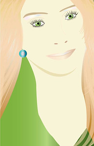 """The Blonde"", Glamour Girls by Nancy Ann Photo-Graphics, Adobe Illustrator"