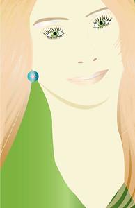 """The Blonde"", Glamour Girls by Nancy Ann Photo-Graphics, Adobe Illustrator"